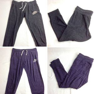 Nike Lot of 2 Cropped 3/4 Length Joggers Small